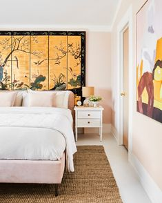 Londo Lodge Guest Bedroom: Creating a Space That Is Wild Without Going Overboard... + The 3 Decor Elements That Can Make A Space POP!  - Emily Henderson Em Henderson, Japanese Screen, Decorating Small Spaces, Guest Room, House, Furniture, Design, Home Decor, Bedrooms