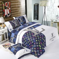 queen size Duvet cover: * Bed sheet : Pillowcase : Dear Friend: My shop is specialize Bed Sets, Bed Linen Design, Bed Design, Bedroom Sets, Bedroom Decor, Bedding Decor, Bedrooms, Hypebeast Room, Designer Bed Sheets