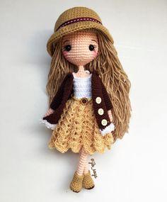 """794 Likes, 19 Comments - Jib Soya (@jib_soya) on Instagram: """"วันนี้เหนื่อยมากกก นอนกันเถอะเรา ร่างพัง😘 #amigurumi #cute #girl #gift #jibsoya #crochet #handmade"""""""