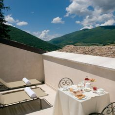 Sit back and relax in Norcia, Umbria.