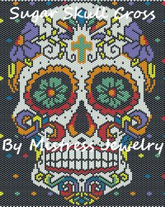 Sugar Skull Cross Word Map & Chart, Sova Enterprises