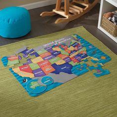 KidKraft Map Of USA Floor Puzzle - 63434