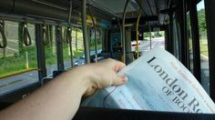 #ReadEverywhere at the bus, Taberg Sweden