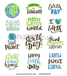 Find Cute Vector Illustration Happy Earth Day stock images in HD and millions of other royalty-free stock photos, illustrations and vectors in the Shutterstock collection. Thousands of new, high-quality pictures added every day. Earth Day Slogans, Earth Day Posters, Earth Day Quotes, Float Life, Save Mother Earth, Earth Bag, Text Signs, Slogan Design, Love The Earth