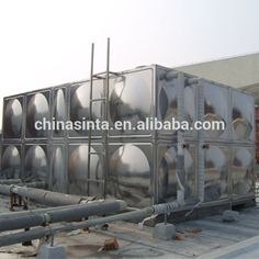 Sinta supply water tank,which weld or bolts connaction.stainless steel water tank is used for drinking water. and we also supply frp water tank and galvanized steel water tank for irrigation,fire control . Galvanized Water Tank, Galvanized Steel, Steel Water Tanks, Stainless Steel Tanks, Water Storage Tanks, Drinking Water, Irrigation, Food Grade, Fire