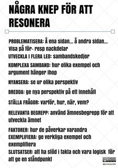 Language support with support templates – Annika Sjödahl – Prescholl Ideas Learn Swedish, Swedish Language, How To Get Better, Religious Studies, Good Student, School Motivation, Good Grades, Creative Writing, Good To Know