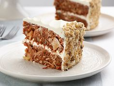 David's Favorite Carrot Cake with Pineapple Cream Cheese Frosting Recipe : Nancy Fuller : Food Network