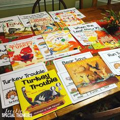 It's Turkey Time! Fall thanksgiving activities in my special education classroom. These activities would be great for preschool, kinder, or toddlers at home with some help Thanksgiving Stories, Thanksgiving Activities, Autumn Activities, Book Activities, Thanksgiving Crafts, Special Education Activities, Special Education Classroom, Autism Classroom, Classroom Ideas