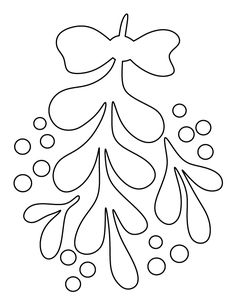 Mistletoe pattern. Use the printable outline for crafts, creating stencils, scrapbooking, and more. Free PDF template to download and print at http://patternuniverse.com/download/mistletoe-pattern/