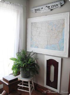 Large Framed map