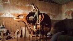 Quentin Garel in his #studio. #art #sculpture #bdg