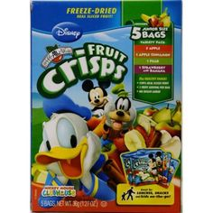 Brothers-All-Natural Disney Mickey Mouse Clubhouse Fruit Crisps Variety Pack, 1.27 oz, 5 ct - Walmart.com