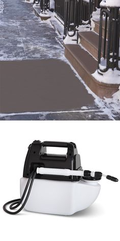 The Professional's Preemptive Snow And Ice Treatment - This is the same de-icing treatment used by municipalities and state departments of transportation to thwart the accumulation of snow and ice. Used as a pre-treatment when anticipating inclement winter weather, the patented solution helps to keep snow and ice from sticking to walkways, driveways, and porches up to two weeks, providing easier removal with less scraping.