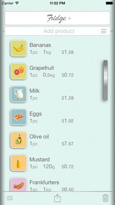 Shopping list – Fridge + in your pocket https://itunes.apple.com/app/id964179270?mt=8 Introducing you to the application Fridge +! It's really convenient shopping list and emulator refrigerator in your pocket!