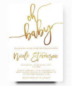 40 best cheap baby shower invitation images on pinterest beautiful oh baby gold foil baby shower elegant simplistic typographybaby shower cheap invitationsinvitations filmwisefo
