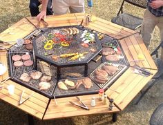 Spectacular Grill-Table