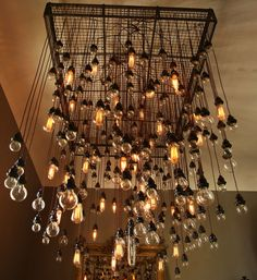 Diy chandelier dining room light wood bulb chain google search 285 bulb industrial chandelier mozeypictures Image collections