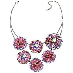 Inspired by flowers: Ribbon Large Necklace #swarovski
