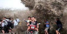 ये लहरें किसी समुद्र में नहीं बल्कि चीन की एक नदी में अचानक उठीं
