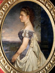 Princess Beatrice was eighteen the year Baron von Angeli - her mother Queen Victoria's favorite portrait painter at the time - completed this portrait