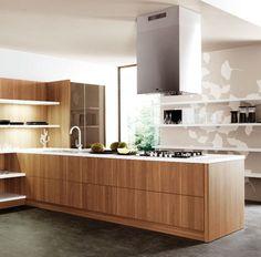 Wood veneer plywood door/drawer fronts for the kitchen