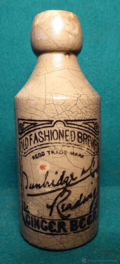 GINGER BEER. CERVEZA INGLESA 1910. STONEWARE. OLD FASHIONED BREWED --------- SE VENDE ---------  estalcon@gmail.com