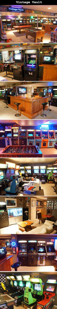 Welcome to Vintage Vault, the largest (and drool-worthiest) basement arcade you'll NEVER get to set foot in…unless you know the people who live there.