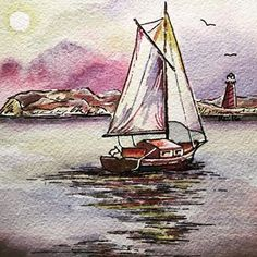 A gift  adding a Bible verse at the top soon... #watercolor #watercolorpainting #watercolorandink #watercolorartist #art #artwork #artist #artistsofinstagram #sailboat #sailboatpainting #reflection #peacefull #landscape #landscapepainting #beach #ocean #sea #beachwatercolor #seaside #seascape #lightandshadow #godscreation #creation