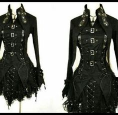 Goth jacket love it!... Just, this whole outfit.