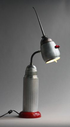 thermos & oil can lamp