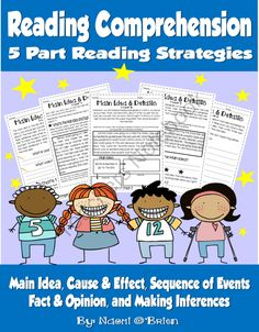 Reading Comprehension Pack For 1st and 2nd product from Read-Like-A-Rock-Star on TeachersNotebook.com
