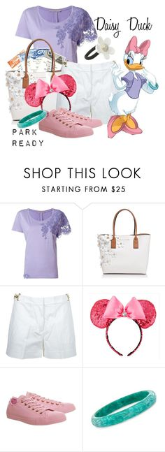 """""""Daisy Duck: Park Ready"""" by laniocracy on Polyvore featuring Ermanno Scervino, Marc Jacobs, MICHAEL Michael Kors, Disney, Converse, Ross-Simons, disneyland and mint200setchallenge"""