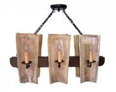 Lamparas rusticas madera y fierro buscar con google - Lamparas de madera rusticas ...