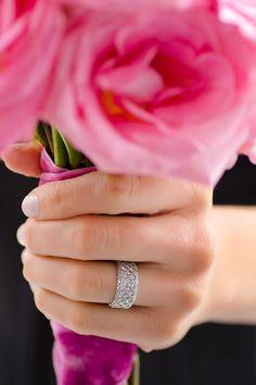 Rahaminov 3 Row Trellis Diamond Band | Oster Jewelers #MyBridalStyle #MyDiamondStyle