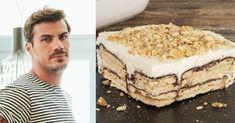 Akis Petretzikis: Chocolate Sweet Fridge … – Pastry World Greek Desserts, Summer Desserts, Tiramisu, Cookies, Chocolate, Sweet, Ethnic Recipes, Food, Crack Crackers