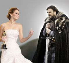 Jennifer Lawrence Flips Off Lord Stark