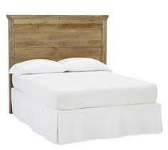 "Mason Headboard - Wax Pine finish #potterybarn. This ""style"" for using our barn boards?"