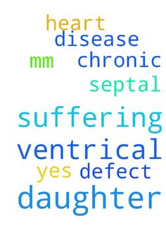 My daughter is suffering from ventrical - My daughter is suffering from ventrical septal defect with 20mm and chronic heart disease she is of 2 .5 yes please pray for her Posted at: https://prayerrequest.com/t/nJn #pray #prayer #request #prayerrequest