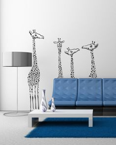 Giraffe family Vinyl Lettering  animal Decal by itswritteninvinyl, $89.00