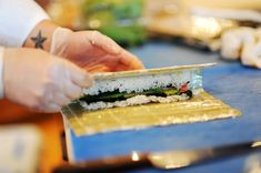 Sushi 101: How to make sushi rolls. I've seen a lot of how-to's and a couple decent books, but this breaks it down a lot for beginners and has pictures every step of the way