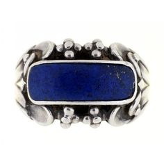 Georg Jensen Lapis Lazuli & Silver Ring. Estimate £200-250. Sale Catalogues Sale - Wednesday 12 June, 2019