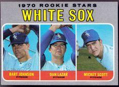 1970 TOPPS CHICAGO WHITE SOX ROOKIE STARS HIGH NUMBER 669 LAZAR JOHNSON SCOTT