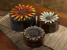 Felicity Dimensional Flower Storage Boxes - Set of 3. IMAX exclusive!