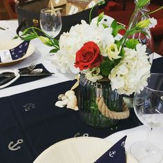Nautical table display, The Big Fat Events Company