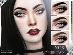 Nox Eyebrows N110 by Praline Sims for The Sims 4