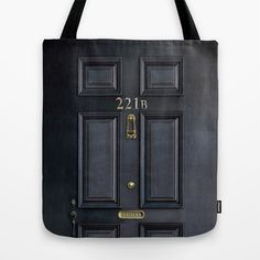 Classic Old sherlock holmes 221b door iPhone 4 4s 5 5c, ipod, ipad, tshirt, mugs and pillow case Tote Bag by Three Second - $22.00