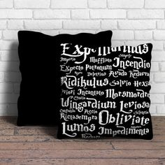 This is Harry Potter and the Deathly Hallows pillow cushion -Removable poly/cotton cover pillows are soft and wrinkle free. -Hidden zipper enclosure. -Do not include insert. -Finished with a black or