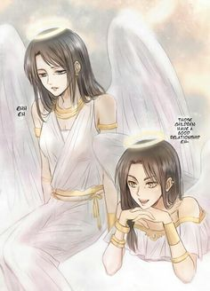 Eren and Levi's mums. OH MY WORD THE FEELS!!!!!!!! I swear i started crying when i saw this