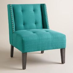One of my favorite discoveries at WorldMarket.com: Peacock Blue Carlin Wingback Chair