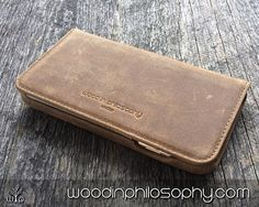 IPhone 6 Wallet Case Leather  Slim IPhone 6 by WoodInPhilosophy